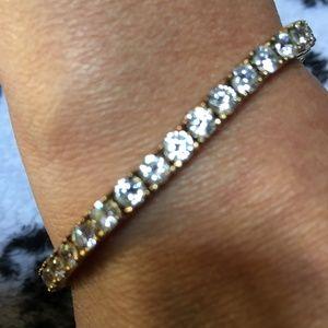 "Jewelry - BEAUTIFUL TENNIS BRACELET-VINTAGE MARKED 5-7"""